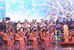 GANGNEUNG, Feb. 9, 2018  Members of the Samjiyon orchestra from the Democratic People's Republic of Korea (DPRK) give performance at the Arts Center of Gangneung, South Korea, on Feb. 8, 2018. The Samjiyon orchestra from the DPRK staged a performance in the South Korean city of Gangneung on Thursday night before the opening of the PyeongChang Winter Olympics.  zcc) (Credit Image: © Pool/Korea Out/Xinhua via ZUMA Wire)