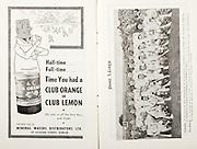 All Ireland Senior Hurling Championship Final,.01.09.1957, 09.01.1957, 1st September 1957,.Minor Kilkenny v Tipperary, .Senior Kilkenny v Waterford, Kilkenny 4-10.Waterford 3-12,..Advertisement, Club Orange, Club Lemon, Mineral Waters Distributors Ltd.,..Waterford,