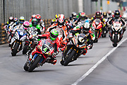 Start of the motorcycle grand prix led by Glenn IRWIN, TAK CHUN Racing by PBM/Penz13, Ducati<br /> 64th Macau Grand Prix. 15-19.11.2017.<br /> Suncity Group Macau Motorcycle Grand Prix - 51st Edition<br /> Macau Copyright Free Image for editorial use only
