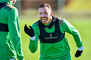 Martin Boyle (#10) of Hibernian FC s all smiles during the training session for Hibernian FC at the Hibs Training Centre, Ormiston, Scotland on 26 February 2021, ahead of the SPFL Premiership match against Motherwell.