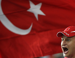 Fan of Turkey during the UEFA EURO 2008 Quarter-Final soccer match between Croatia and Turkey at Ernst-Happel Stadium, on June 20,2008, in Wien, Austria.  Won of Turkey after penalty shots. (Photo by Vid Ponikvar / Sportal Images)