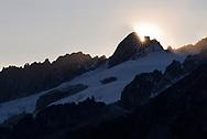 The crest of the Fusshörner, Aletsch area, Valais, Switzerland