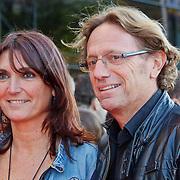 NLD/Utrecht/20100903 - Premiere Queen musical We Will Rock You, Eric van Tijn en partner Teruska Bollen