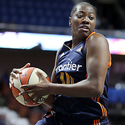 UNCASVILLE, CONNECTICUT- MAY 05:  Shekinna Stricklen #40 of the Connecticut Sun in action during the San Antonio Stars Vs Connecticut Sun preseason WNBA game at Mohegan Sun Arena on May 05, 2016 in Uncasville, Connecticut. (Photo by Tim Clayton/Corbis via Getty Images)
