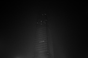 China World Trade Center Tower 3 is seen at night in Beijing. The building is a supertall skyscraper with 74 floors, 4 underground floors, and 30 elevators in Beijing, China. It is the third phase of development of the China World Trade Center complex in Beijing's central business district.