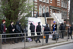 Supporters of Transexual Tara Wolf, 26, from Stratford, stage a protest outside Hendon Magistrate's Court in London where she is defending charges of assaulting 61 year-old Maria MacLachan when a brawl broke out between feminists and transgender activists at Speakers' Corner. London, April 13 2018.
