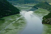Lake Skadar, Rijeka Crnojevica, Pavlova Strana, River Crnojevica, Montenegro,
