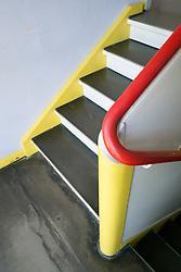 Detail of staircase in Bauhaus Masters' Houses by Walter Gropius on Ebertallee in Dessau-Rosslau Germany