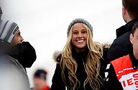 Langrenn<br /> FIS World Cup<br /> Verdenscup sprint<br /> Drammen 11.03.10<br /> Petter Northug sin kjæreste Rachel Nordtømme<br /> Foto: Eirik Førde