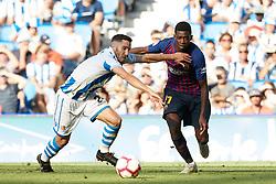 September 15, 2018 - during the Spanish football of La Liga Santander, match between Real Sociedad and FC Barcelona at the Anoeta stadium, in San Sebastian, Spain, on Saturday, September 15, 2018. (Credit Image: © AFP7 via ZUMA Wire)