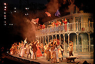 """SHOW BOAT -- A scene from the Muny's 2010 production of """"Show Boat"""" as shot for the St. Louis Post-Dispatch. Photo © copyright 2010 Sid Hastings."""
