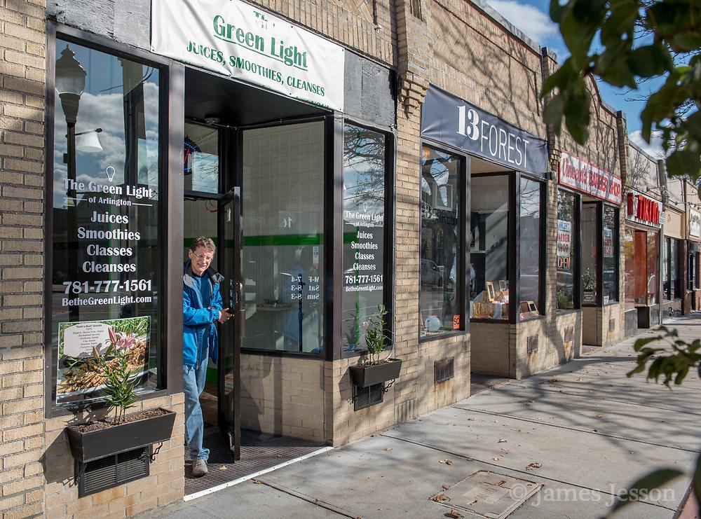 The Green Light restaurant has taken up space along Massachusetts Ave in East Arlington, Nov. 8, 2017.   [Wicked Local Photo/James Jesson]