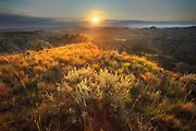 Sunset over the badlands in eastern Montana.