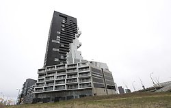 April 29, 2019 - Toronto, ON, Canada - TORONTO, ON - April 29    The River City 3 Condo located in the West Don Lands,  is unlike anything seen in these parts. It doesn't just stand out, it makes a statement..For Hume story..April 29, 2019 Richard Lautens/Toronto Star (Credit Image: © Richard Lautens/The Toronto Star via ZUMA Wire)