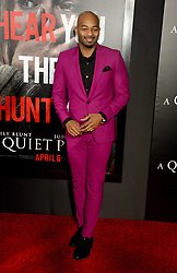 Brandon Victor Dixon attending the 'A Quiet Place' New York Premiere at AMC Lincoln Square Theater on April 2, 2018 in New York City, NY, USA. Photo by Dennis Van Tine/ABACAPRESS.COM