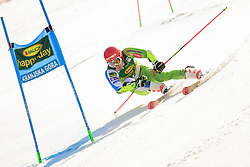 March 9, 2019 - Kranjska Gora, Kranjska Gora, Slovenia - Zan Kranjec of Slovenia in action during Audi FIS Ski World Cup Vitranc on March 8, 2019 in Kranjska Gora, Slovenia. (Credit Image: © Rok Rakun/Pacific Press via ZUMA Wire)