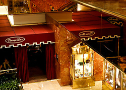 The Trump Bar, in the ground floor of the Trump Tower, while President elect Donald Trump is holding meetings on top floors of the building, November 21, 2016, in New York, NY. (Aude Guerrucci / Pool)