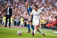Real Madrid's player Luka Modric during a match of La Liga Santander at Santiago Bernabeu Stadium in Madrid. August 27, Spain. 2016. (ALTERPHOTOS/BorjaB.Hojas)