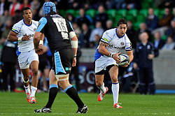 Horacio Agulla of Bath Rugby in possession - Photo mandatory by-line: Patrick Khachfe/JMP - Mobile: 07966 386802 18/10/2014 - SPORT - RUGBY UNION - Glasgow - Scotstoun Stadium - Glasgow Warriors v Bath Rugby - European Rugby Champions Cup