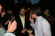 Olafur Eliasson AND Jeremy Deller, The Summer Party in association with Swarovski. Co-Chairs: Zaha Hadid and Dennis Hopper, Serpentine Gallery. London. 11 July 2007. <br /> -DO NOT ARCHIVE-© Copyright Photograph by Dafydd Jones. 248 Clapham Rd. London SW9 0PZ. Tel 0207 820 0771. www.dafjones.com.