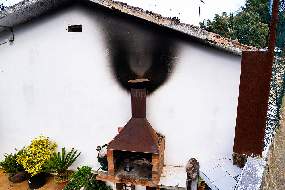 Smoke stains from wood smoke in Catalonia, Spain. 400,000 premature deaths in Europe every year, according to the European Environment Agency.