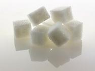 White refined Sugar cubes