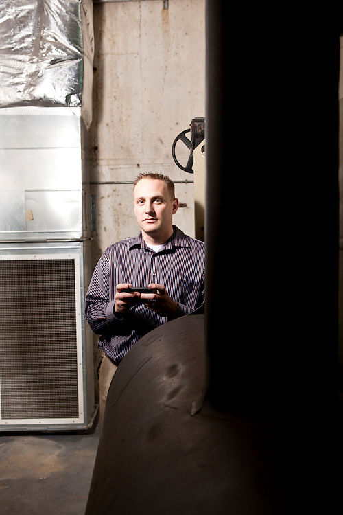 01 March 2012- Brian Feyerherm is photographed at Regency Court in Omaha, Nebraska for  a HVAC story.