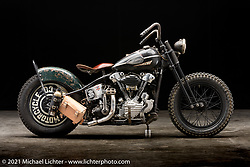 Taber Nash's S&S Knucklehead. Photographed by Michael Lichter in Sturgis, SD. August 6, 2021. ©2021 Michael Lichter