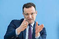 """09 APR 2020, BERLIN/GERMANY:<br /> Jens Spahn, CDU, Bundesgesundheitsminister, Pressekonferenz """"Unterrichtung der Bundesregierung zur Bekämpfung des Coronavirus"""", Bundespressekonferenz<br /> IMAGE: 20200409-01-031<br /> KEYWORDS: BPK"""