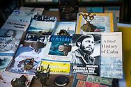 Secondhand books for sale in Plaza de Armas in Habana Vieja in Havana, Cuba.
