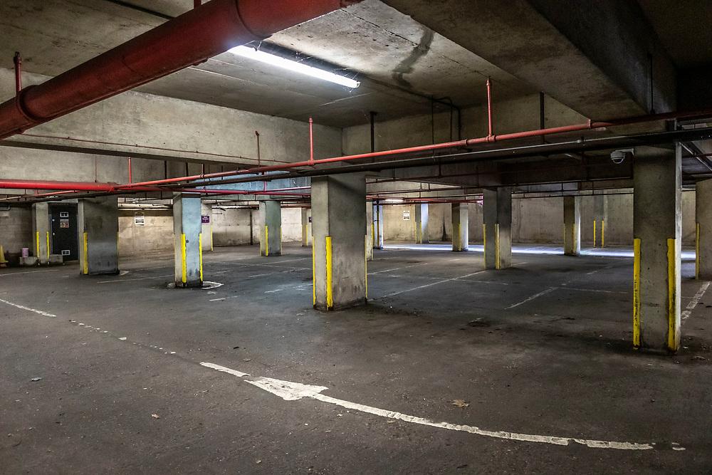 Empty Underground car park, West Bromwich, West Midlands, UK.