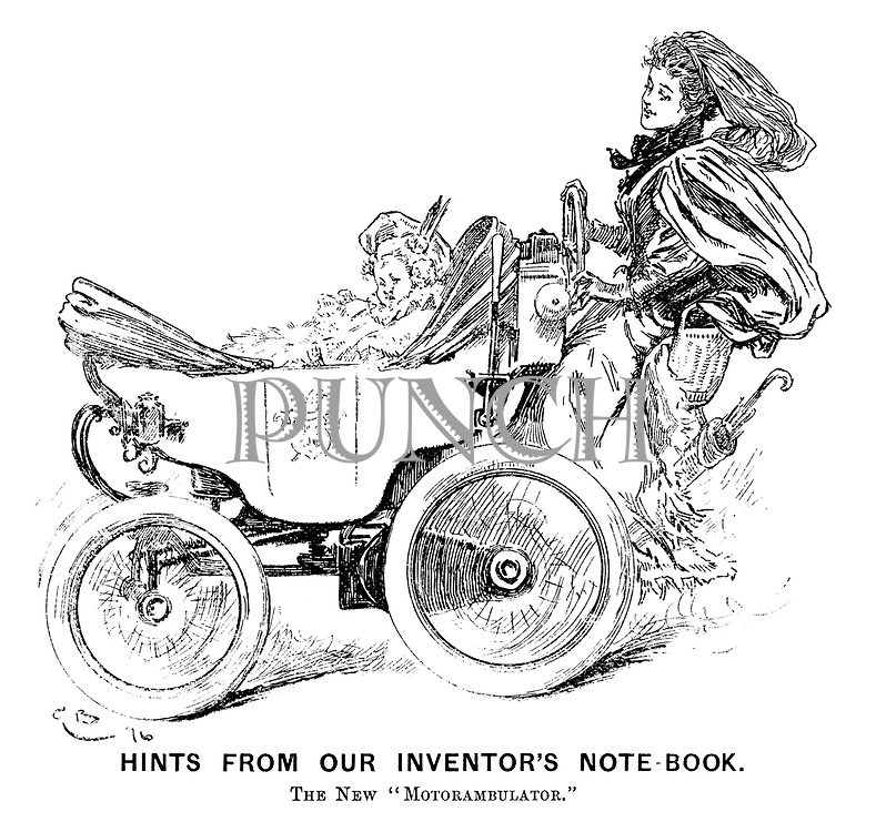 "Hints from Our Inventor's Note-book. The new ""motorambulator."""