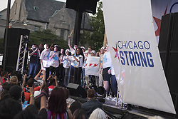 June 15, 2018 - Chicago, Illinois, USA - A group of student activists for Parkland High School address the crowd at the Peace March & Rally on Chicago's southside. Starting at St. Sabina's Catholic Church and lead by Father Pfleger. (Credit Image: © Rick Majewski via ZUMA Wire)