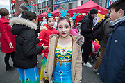 NO FEE PICTURES                                                                                                                                                                  26/1/20 People celebrating the Chinese New Year, the year of the Rat at the New Years festival at Hill street in Dublin's north inner city. Picture: Arthur Carron