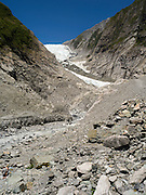 View of the Franz Josef Glacier, West Coast, New Zealand
