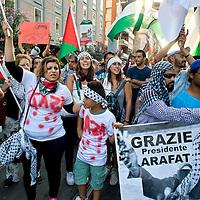 Manifestazione  contro il massacro  a Gaza