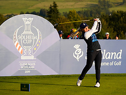 Solheim Cup 2019 at Centenary Course at Gleneagles in Scotland, UK. Bronte Law of Europe drive on 18th hole during the Friday Afternoon Fourballs.