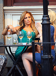 April 26, 2019 - New York, New York, United States - Actor Jennifer Lopez was on the Manhattan set of the new TV show 'Hustlers' on April 25 2019 in New York City  (Credit Image: © Mike Reed/Ace Pictures via ZUMA Press)