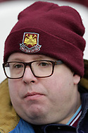 West Ham United fan during the The FA Cup 3rd round match between West Ham United and Birmingham City at the London Stadium, London, England on 5 January 2019.