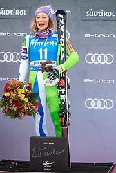 19.12.2018, Saslong, St. Christina, ITA, FIS Weltcup Ski Alpin, SuperG, Damen, Flower Zeremonie, im Bild Ilka Stuhec (SLO, 1. Platz) // race winner Ilka Stuhec of Slovenia during the Flowers ceremony for the ladie's Super-G of FIS Ski Alpine World Cup at the Saslong in St. Christina, Italy on 2018/12/19. EXPA Pictures © 2018, PhotoCredit: EXPA/ Johann Groder