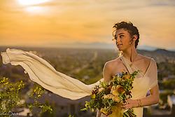 Bridal Portrait at Sundown