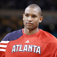 10 May 2012: Atlanta Hawks center Al Horford (15) is seen during the Boston Celtics 83-80 victory over the Atlanta Hawks, in Game 6 of the Eastern Conference first-round playoff series, at the TD Banknorth Garden, Boston, Massachusetts, USA.