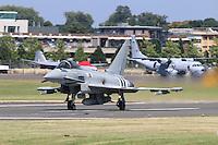 Royal Air Force Eurofighter Typhoon, Farnborough International Airshow, Farnborough Airport UK, 18 July 2014, Photo by Richard Goldschmidt