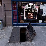 Door to the basement of a Dinner.