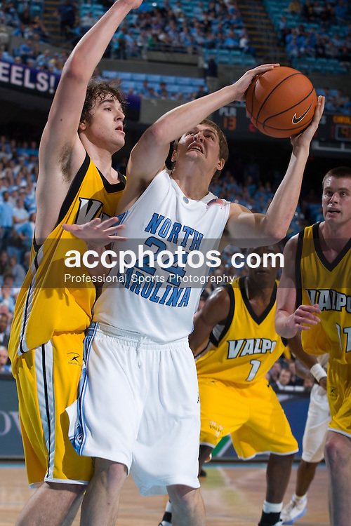 30 December 2007: North Carolina Tar Heels forward Surry Wood (24) during a 114-62 win over the Valparaiso Crusaders at the Dean Smith Center in Chapel Hill, NC.
