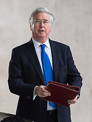 © Licensed to London News Pictures. 21/06/2015. London, UK.  MICHAEL FALLON arrives at BBC Broadcasting House in London for the Andrew Marr Show. Photo credit : Vickie Flores/LNP
