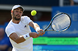 Australia's Jordan Thompson during his match against Great Britain's Andy Murray during day two of the 2017 AEGON Championships at The Queen's Club, London.