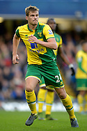 Ryan Bennett of Norwich City in action. Barclays Premier league match, Chelsea v Norwich city at Stamford Bridge in London on Saturday 21st November 2015.<br /> pic by John Patrick Fletcher, Andrew Orchard sports photography.