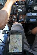 Interior on a cockpit of a Cessna plane