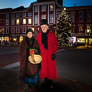 Vintage Christmas Hosts in Market Square, Portsmouth, NH